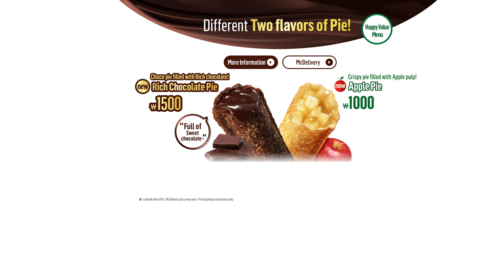 Different Two flavors of Pie!
