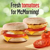 Enjoy fresh Tomatoes<br>every morning!